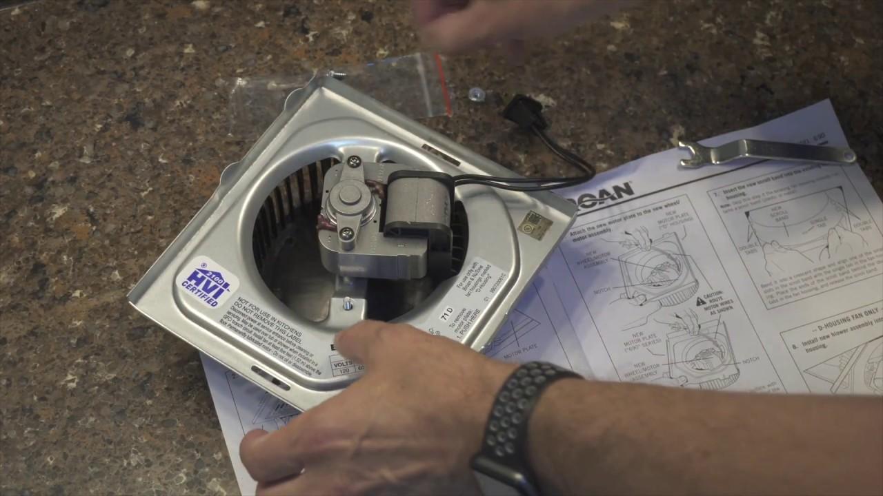 Diynot Quick Fix Broan Bathroom Fan Upgrade Kit Youtube