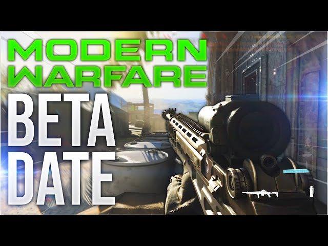 Call of Duty: Modern Warfare Beta Release Date