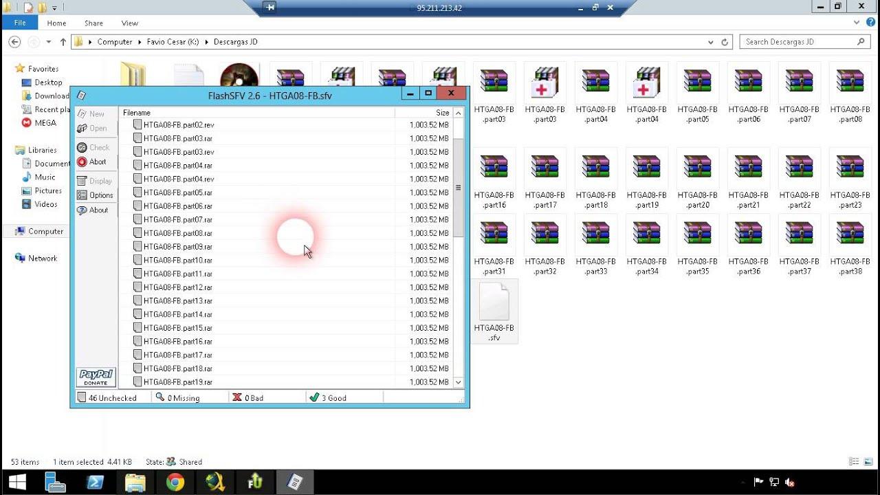 abrir archivos sfv