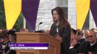 Julia Davis, Phi Beta Kappa Speaker 2014