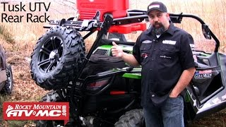 tusk utv rear bumper cargo rack spare tire carrier review