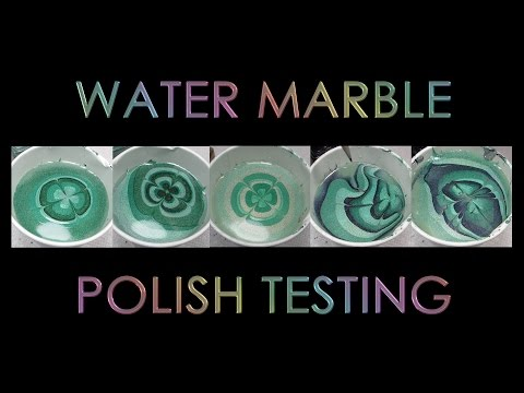 Polish Testing | Holo Clover Water Marble | Behind the Scenes