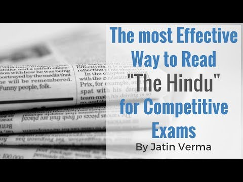 How To Read The Hindu for Competitive Exams? Most Effective Way To Read