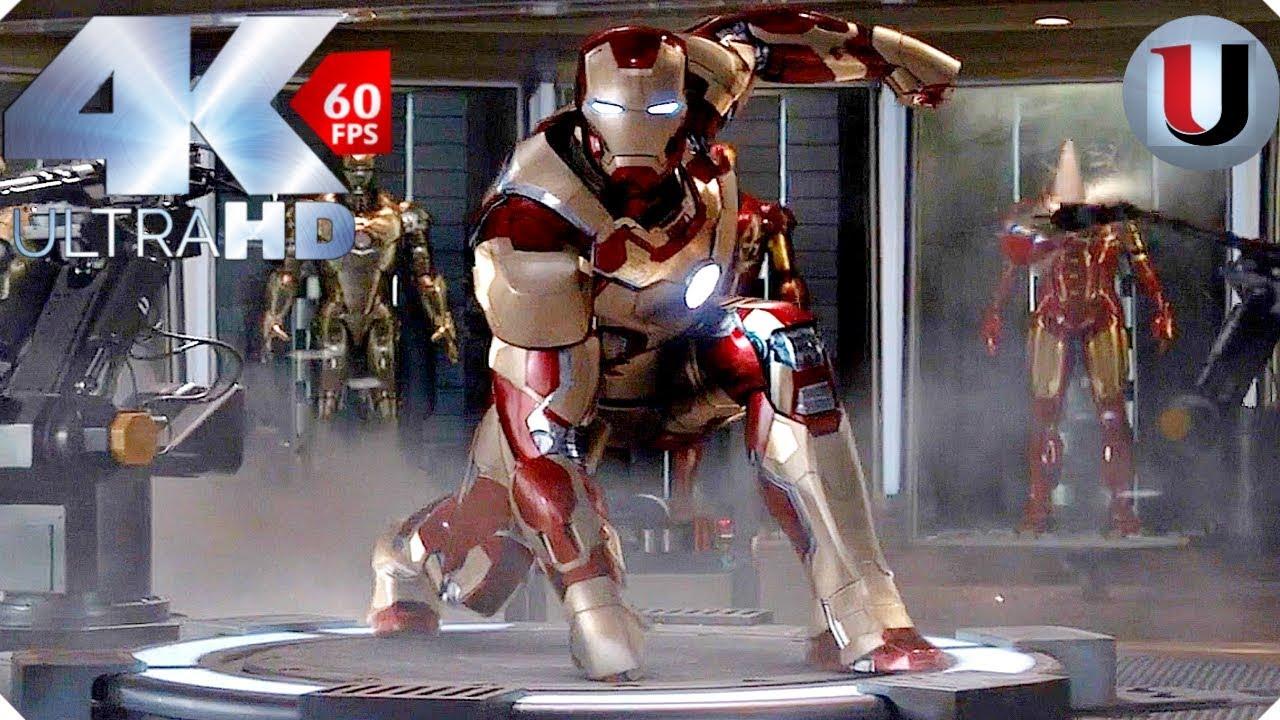 Avengers Assemble Wallpaper Hd Iron Man Mark 42 Suit Up Iron Man 3 Movie Clip 4k Hd