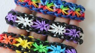 Rainbow Loom Nederlands, Starburst, Armband, rustige uitleg