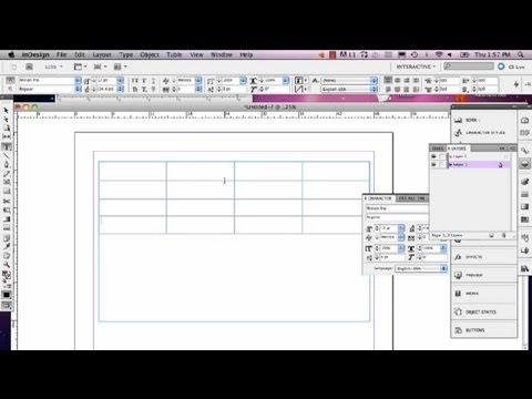 Adjusting The Rows In InDesign : InDesign Tutorials
