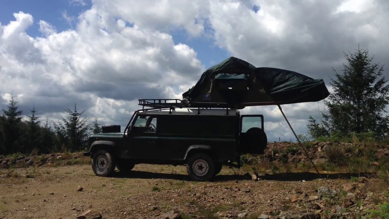 C&ing in a Hannibal roof tent on a Landrover Defender with a Frontier stove for cooking! & Camping in a Hannibal roof tent on a Landrover Defender with a ...