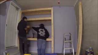Time Lapse Garage Storage And Workbench