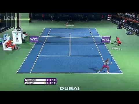 Serena Williams vs. Alize Cornet | Full Highlights | Dubai Tennis Championships 2014(SF)