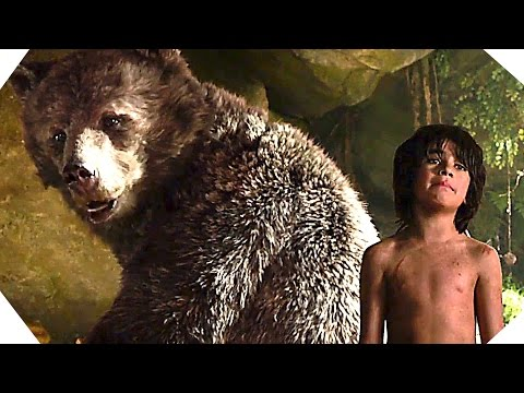 Baloo and Bagheera in THE JUNGLE BOOK - Movie Clip # 2 (Disney - 2016)