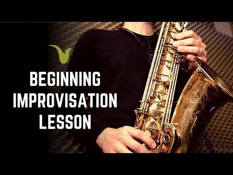 Beginner Improvisation Lesson for Saxophone (or any instrument)