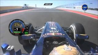 F1 Texas 2012 / Sebastian Vettel Pole Position Lap - Onboard HD
