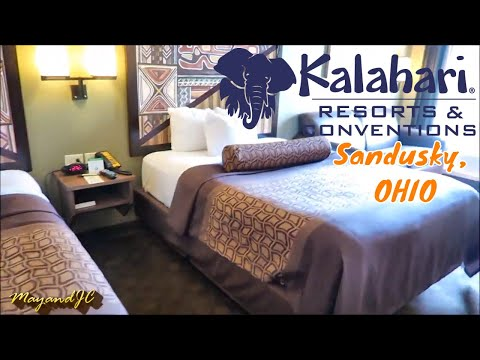 kalahari-resorts-&-conventions-sandusky,-ohio----water-park-resorts-  -arrival-&-room-tour