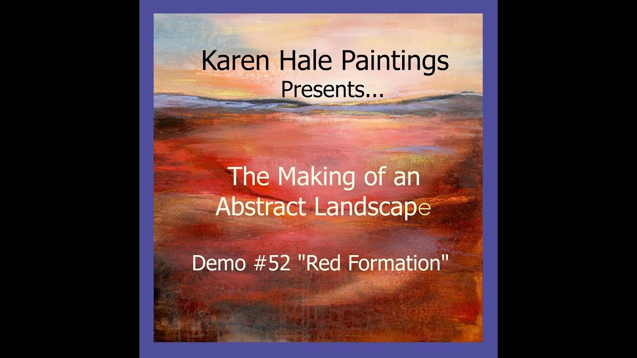 Amazing Acrylic Abstract Landscape Art Demonstration