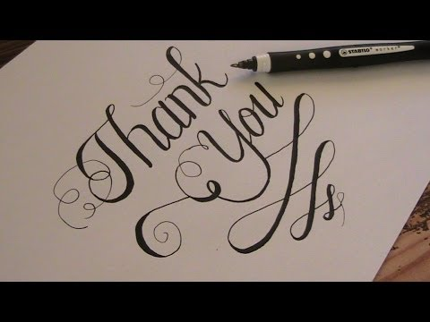 how to write in cursive - cursive fancy letters Thank you - YouTube