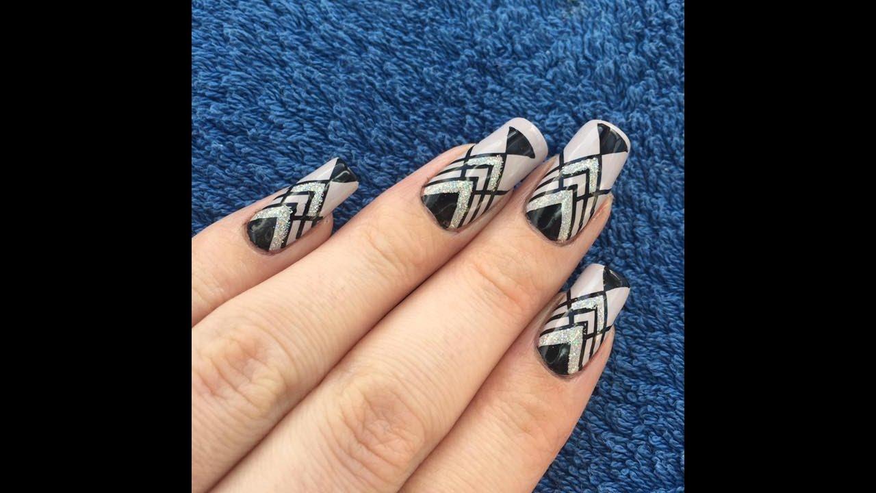 Art Deco Stamping Nail Art Bornprettystore Youtube