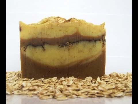 Oatmeal, Molasses & Cinnamon Soap Making & Cutting