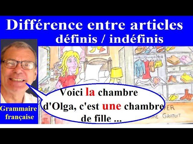 Difference Entre Article Defini Et Indefini Exercice Ce1 Ce2 Cm1 Cm2 Fle Youtube