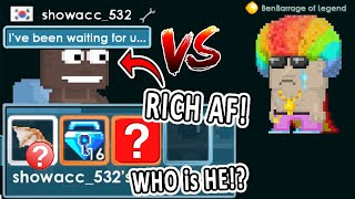 RICHEST SECRET PRO I've Battled! [Don't Judge Noob / Show Battle] | Growtopia