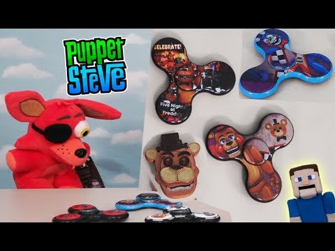 FNAF Fidget Spinner Five Nights at Freddy's FIGIX Plush Foxy Toy Freddy  Hand DIY Hack tricks