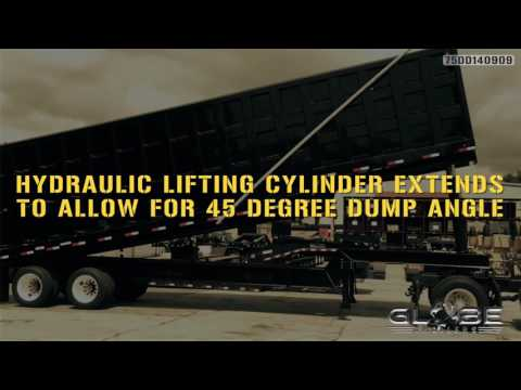 Globe Trailers: Freightliner Demolition Dump Trailer