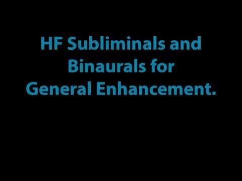 HighFrequency Subliminal with 7hz Binaural.