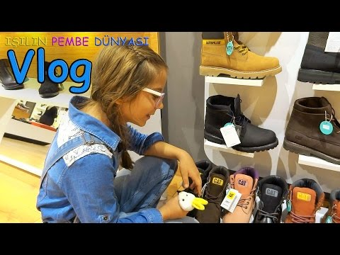 Vlog - Ablam Ile Ayakkabı Mağazasında Alışverişte Ve Sinemadayız - Eğlenceli Çocuk Videosu