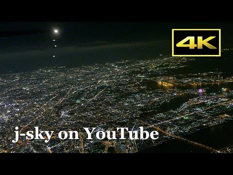 [4K] Beautiful night scene! ANA's takeoff at Osaka Itami Airport Runway 32L [伊丹空港] [FZ1000]