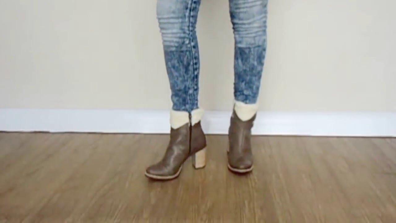 a5c446340 bota cano curto tanara - YouTube