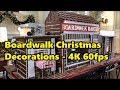 Boardwalk Resort | Christmas Decorations in 4K 60fps | Walt Disney World