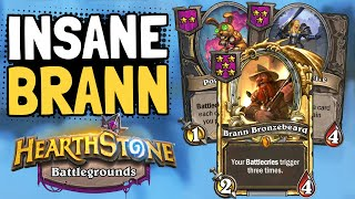 Golden Brann is CRAZY BUSTED!   Battlegrounds   Hearthstone