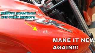 Repair Motorcycle Paint Scratches With Spray Paint Cans.