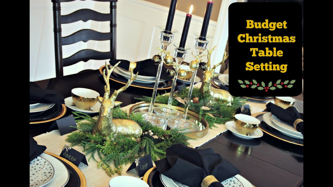& Christmas Table Setting on a Budget - YouTube