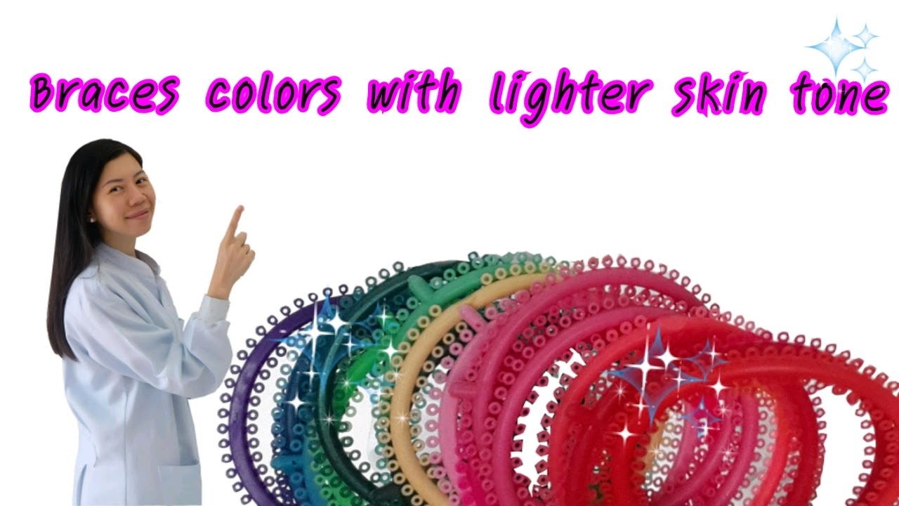 Braces colors with lighter skin tone - YouTube