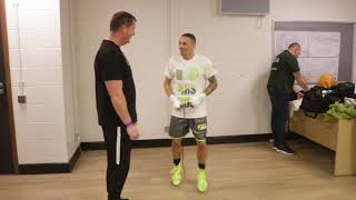 DON BROADHURST WARMS UP AHEAD OF BRITISH TITLE CLASH W: JOSH WALE  / PARKER v FURY