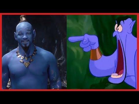 Aladdin Trailer (Comparison) (1992, 2019)