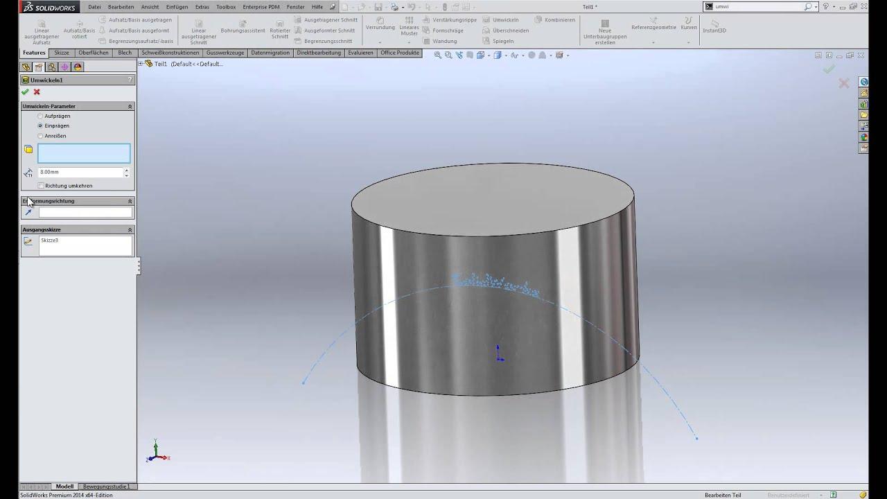 SolidWorks Tipp - Skizzengeometrie oder Text auf zylindrische Fläche ...