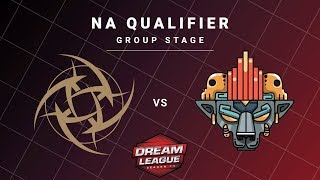 Ninjas in Pyjamas vs Xolotl Game 1 - DreamLeague S13 NA Qualifiers: Group Stage