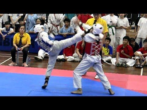 Chee Xuelian Kyorugi - 1st Chinese Private Schools Taekwondo Championship