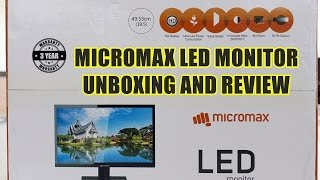 Unboxing & Review: Micromax MM195HHDM165 LED Monitor 49.5 cm(19.5) HD LED Monitor