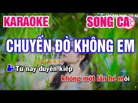 Karaoke Chuyến Đò Không Em Song Ca Nhạc Sống   Mai Thảo Organ