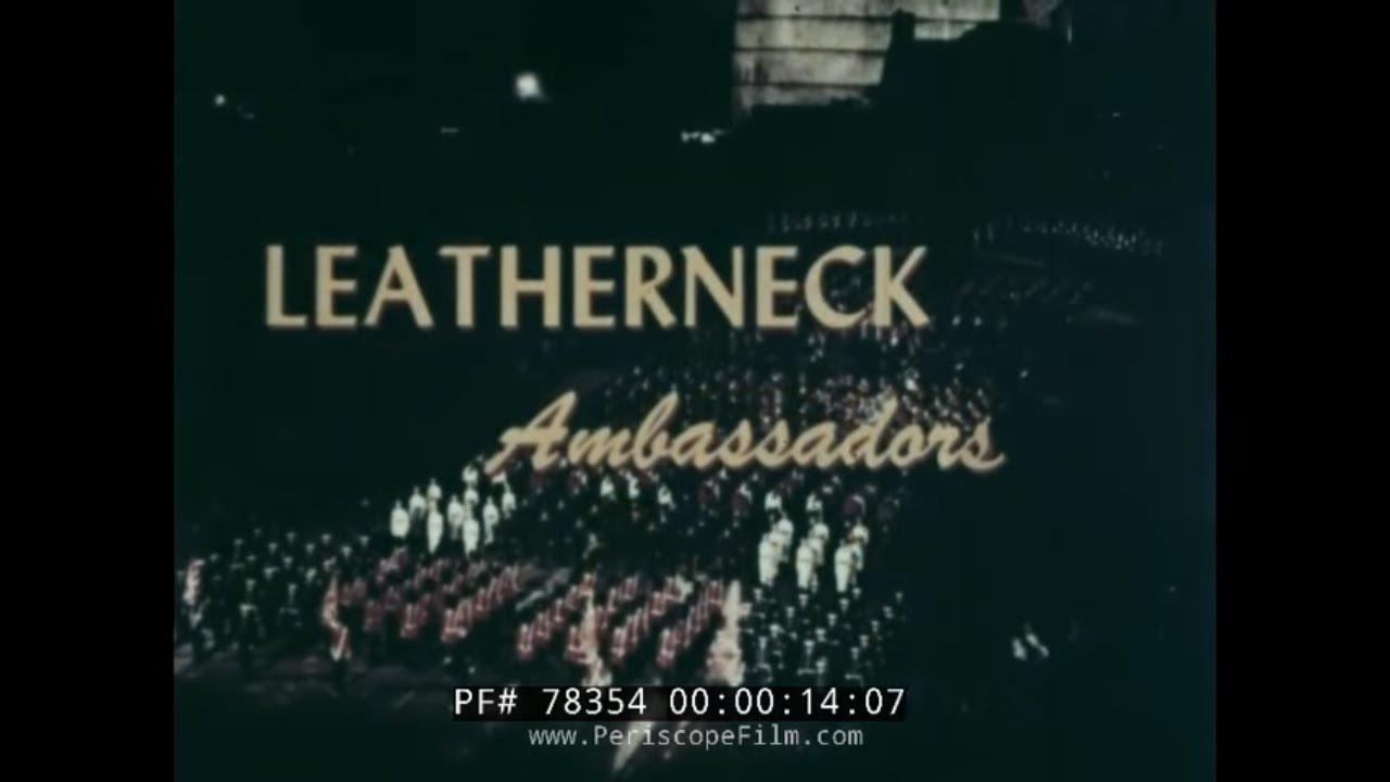 Us Marine Corps Royal Edinburgh Military Tattoo 1960 Scotland Usmc