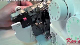 How to thread the Janome 8002D Serger