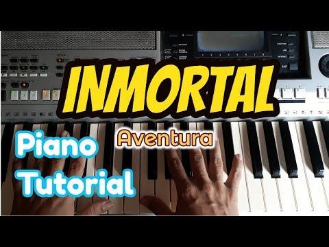 Como tocar INMORTAL en piano tutorial | AVENTURA