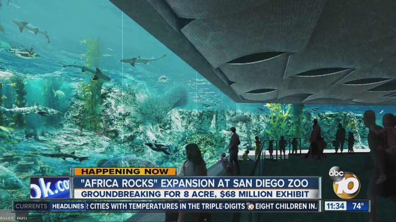 officials break ground on san diego zoo s africa rocks exhibit youtube