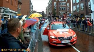 BinckBank tour 2017 crashes stage 2- Voorburg