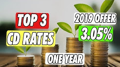Top 3 Bank CD Interest Rates 2019