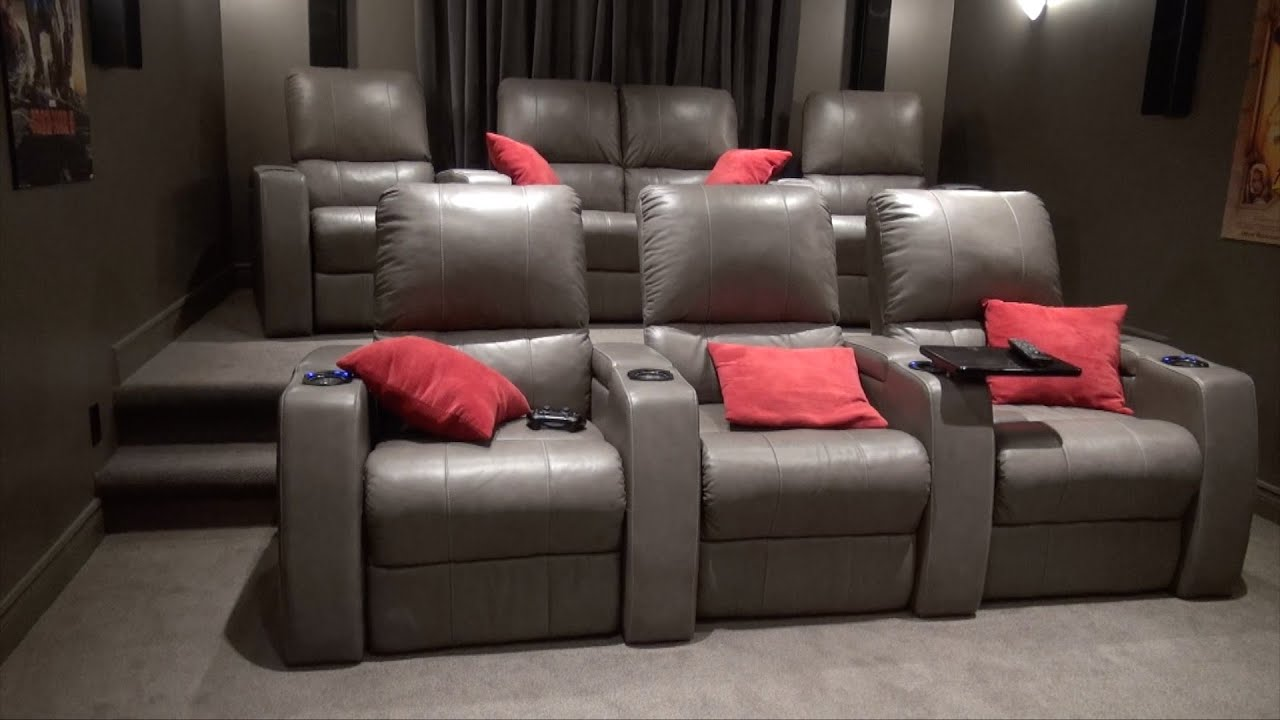 How to build a theater seating riser the burke home - Home theater stadium seating design ...