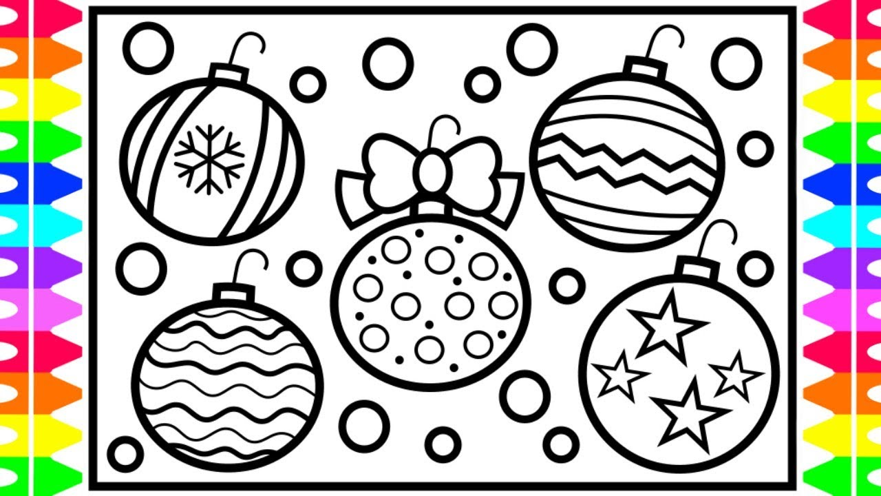 How to Draw Christmas Ornaments Step by Step for Kids| Christmas ...