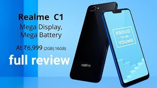 Exclusive Oppo RealMe C1 smartphone battery, camera, specifications and full review